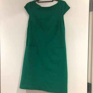 Vince Camuto Green Cap Sleeve Shift Dress
